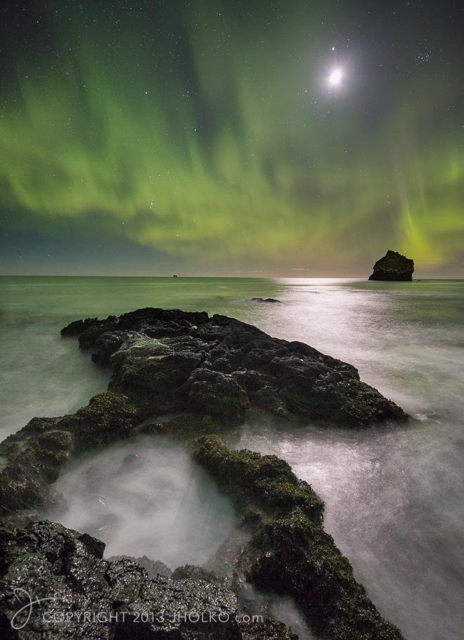 Aurora over Reykjanestá