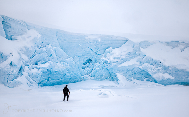 Man vs. Glacier