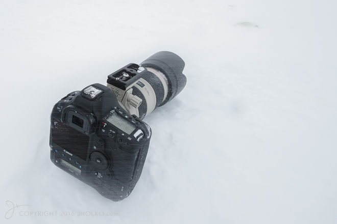 Frozen Canon EOS 1DX MKII w/ Canon 70-200mm F2.8L IS MKII